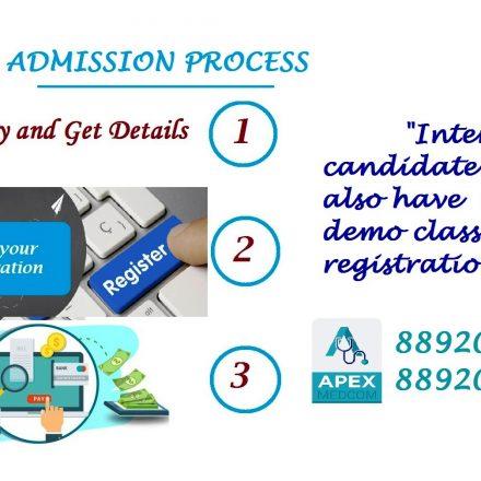 Admission process at Apex Medcom